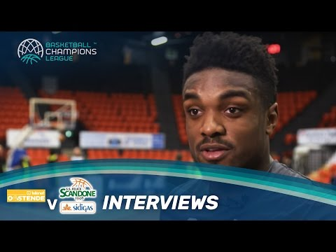 Sidigas Avellino Interviews Ahead of their Game v Telenet Oostende
