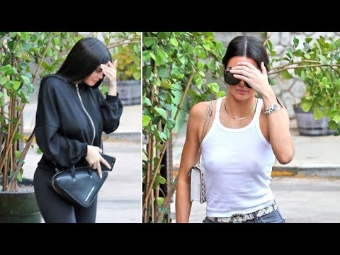 Kendall Jenner Shows Nipples, Braless In Sheer Top For Dinner With Kylie thumbnail