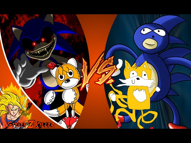 SONIC EXE and TAILS DOLL vs SANIC and TAELS! Cartoon Fight Club