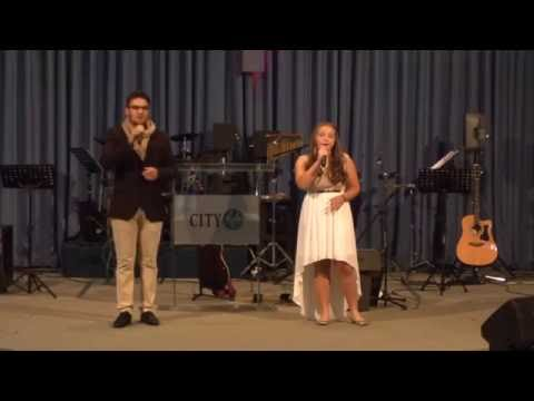 "Megan May singing ""the Prayer"". ft. Henry Janse van Rensburg"