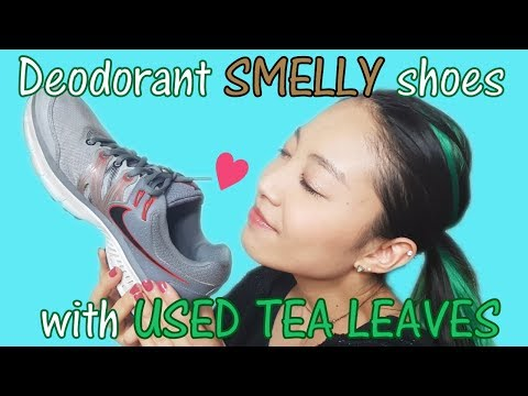 Deodorant smelly shoes with used tea leaves 【CHA-Link #10】