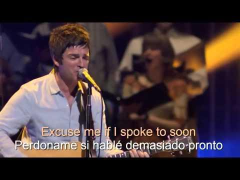 Noel Gallagher - If I Had A Gun (subtitulos español - ingles) live