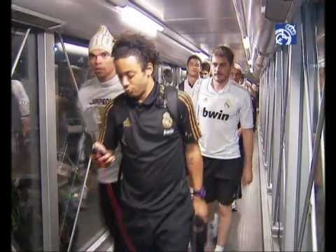 Real Madrid's arrival in Barajas airport