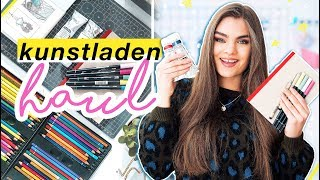 Kunstbedarf Haul - Neue Art Supplies zum Bilder Malen & Zeichnen // I'mJette