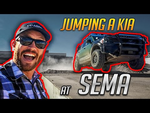 Jumping the 2020 Kia Telluride at the 2018 SEMA Show!!!