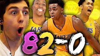 82-0 CHALLENGE - 2017 LOS ANGELES LAKERS! NBA 2K16 MY LEAGUE
