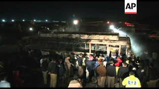Many killed as passenger bus collides with oil tanker