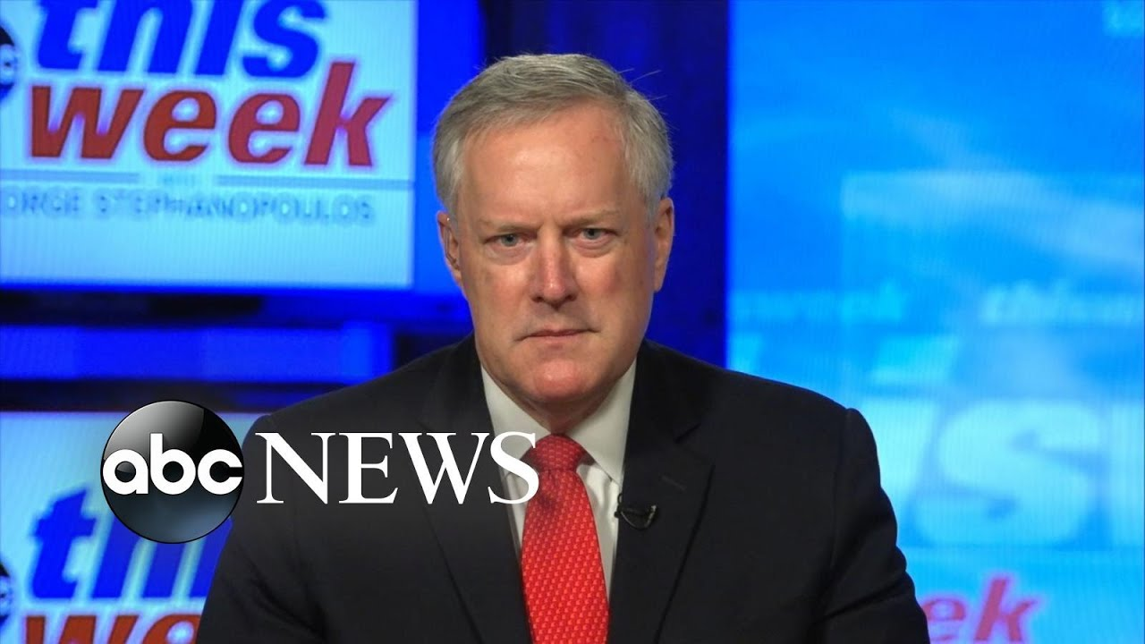 Hopeful For Good News On Therapeutics Vaccine Mark Meadows In Abc News Exclusive Youtube