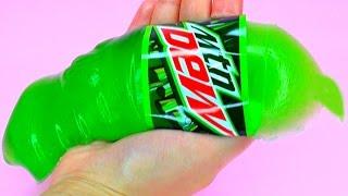 DIY Giant Gummy Mountain Dew Bottle - How To Make Giant Gummy Mountain Dew Bottle At Home (Recipe)