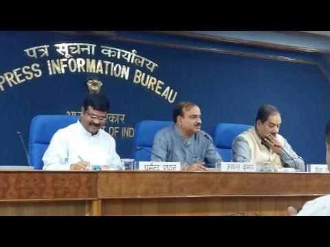 Press Conference by Shri Ananth Kumar and Shri Dharmendra Pradhan