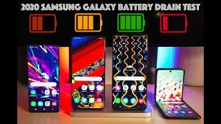2020 Samsung Battery Drain Test / Galaxy S20 vs Galaxy S20 Plus vs Galaxy S20 Ultra Vs Galaxy Z Flip