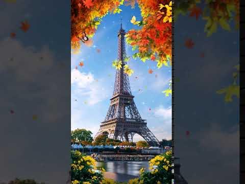 [Samsung Theme-Live Wallpaper] Eiffel Tower Fall