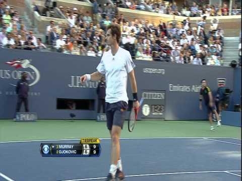 2012 US Open Murray vs  Djokovic 1ST SET TIEBREAKER