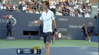2012 US Open Murray vs  Djokovic 1ST SET TIEBREAKER