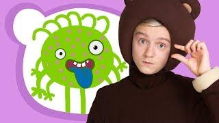МИКРОБ - Три Медведя - песенка про грязные ручки и микробы для детей, малышей