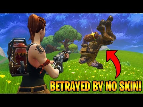 FRIENDLY THANOS BETRAYED BY NO SKIN NOOB! (Fortnite Funny Moments)
