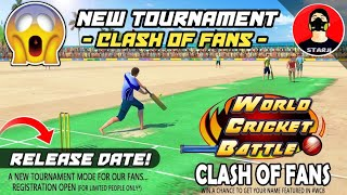 🔥WCB New! Clash Of Fans T20 Tournament | Official Release Date Fan! Name & Number - Hind