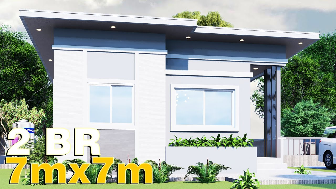 Small House Design 7x7 50 Sqm Full Plan Youtube