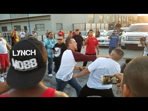 Crenshaw takeover | Street fight | Motorcycle donuts and Burnout Compilation