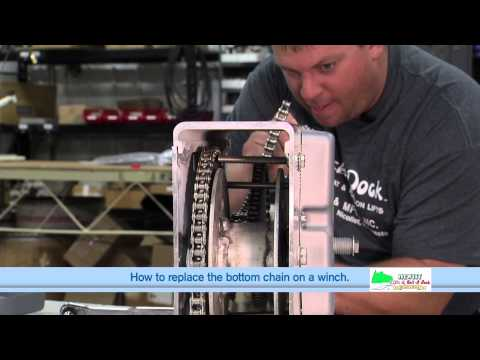Replacing the bottom chain on a Hewitt 1501,2001 and 2501 Winch