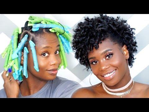 Curlformers Tutorial on Short Natural Hair   MissKenK
