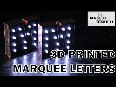3d printed marquee letters