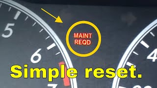 Toyota Corolla Maint Reqd Light Reset Maintenance Required