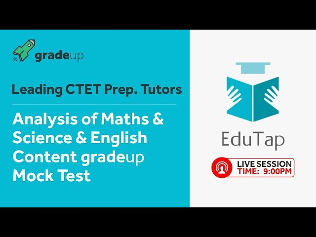 CTET Live Gradeup Mock Test Analysis on English,Maths & Science