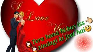 I Love you whatsapp status Happy New year special whatsapp I miss you romantic status