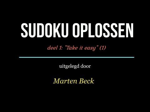 Sudoku oplossen deel 01: