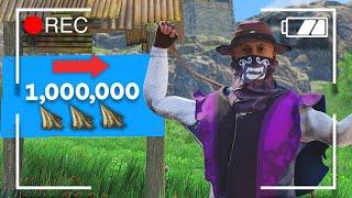 How I Got OΝE MILLION Cloth In Rust (x1,000,000)