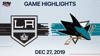 NHL Highlights   Kings vs. Sharks – Dec. 27, 2019