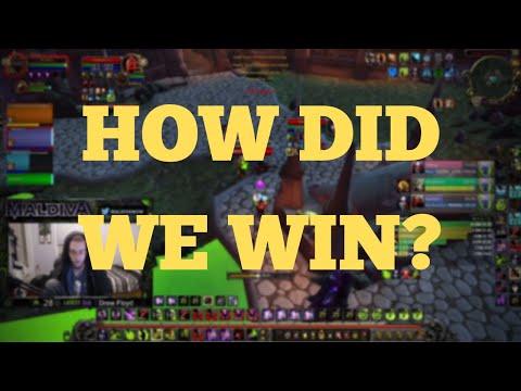 HOW DID WE WIN!- Warlock POV 3v3 Arena (BFA World of Warcraft)