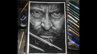 Desenho Realista Grafite e Carvão , Desenhando Logan, Drawing Logan , Dibujando Logan