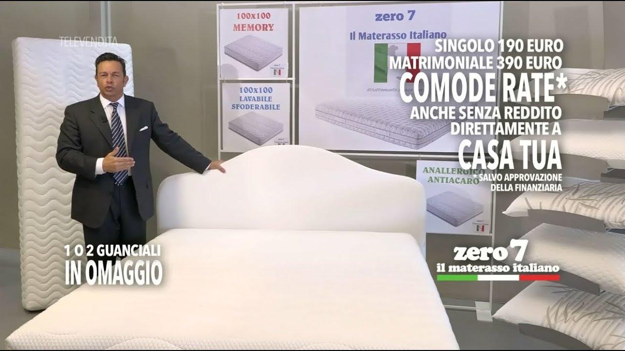 Pubblicita Materassi.Zero 7 Il Materasso Italiano Televendita 2017 Youtube
