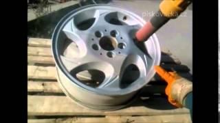 renovace auto disků   pískování venku