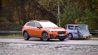 Subaru XV 2017: тест автоторможения системы EyeSight на полигоне