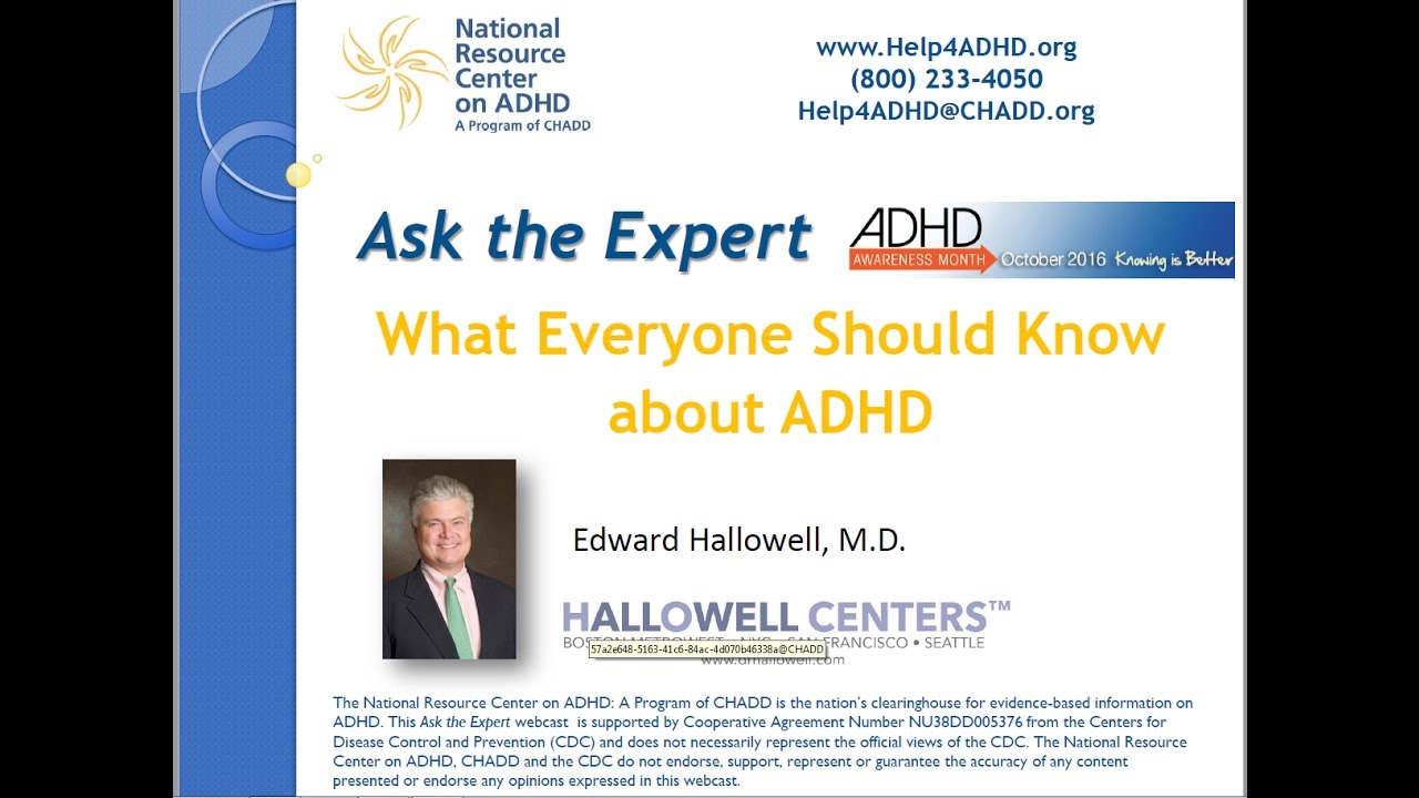 What Everyone Should Know about ADHD - YouTube