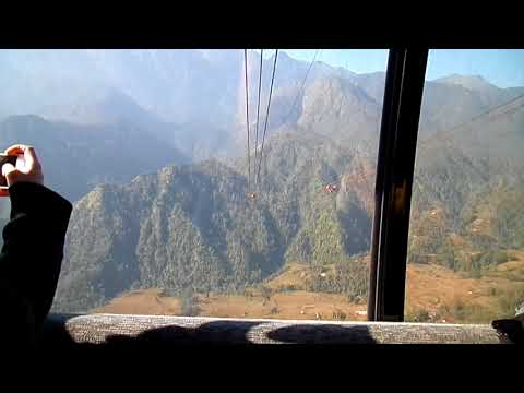 December 2017: view from Fansipan-cable car North Vietnam