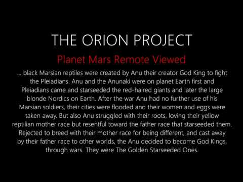 Mars Anu Anunaki   Remote View   The Orion Project