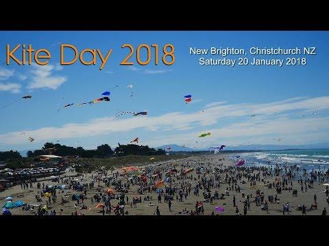 Kite Day 2018, New Brighton beach, Christchurch, NZ
