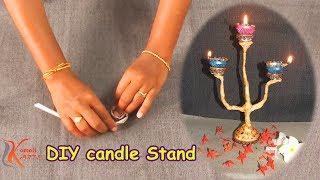 Diwali Special Diya Stand# decoration ideas #komali Arts
