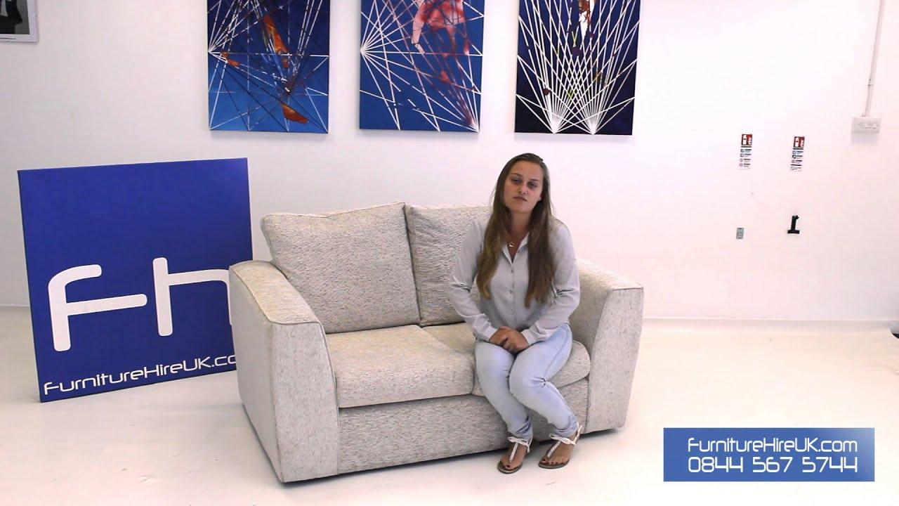2 Seater Fabric Sofa Demo - Furniture Hire UK