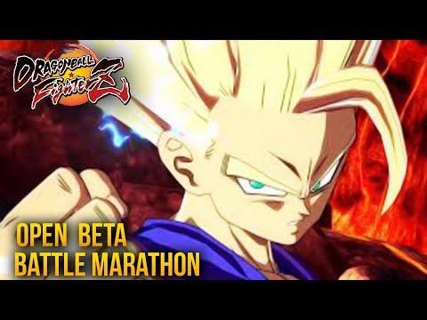 Dragon Ball FighterZ OPEN BETA BATTLE MARATHON LIVE! 2 (DragonBall Z FIGHTER Z GAMEPLAY)