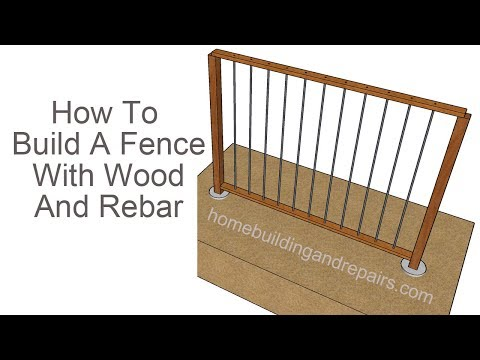 How To Build Wood Fence With Rebar Pickets - Design And Assembly Ideas