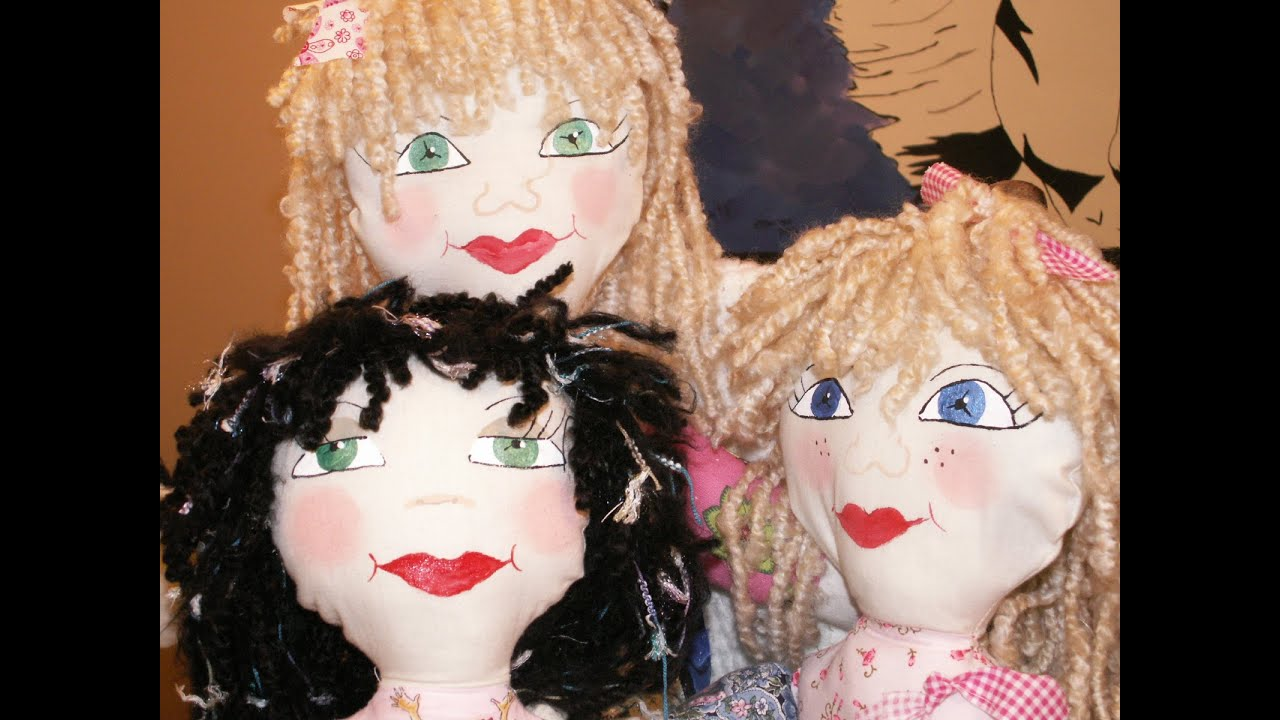 Easy Steps To Making Rag Doll Hair Youtube