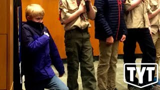 Boy Scout Kneels To Protest Racism