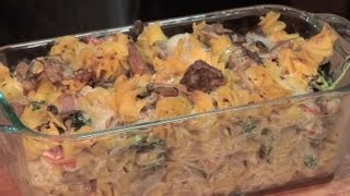 Recipe For Diced, Cooked Chicken With Pasta & Ricotta Cheese : Mushroom Recipes & More