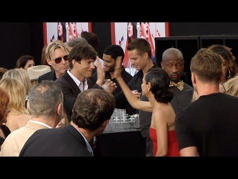 Ashton Kutcher High Fives Mila Kunis