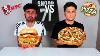 KFC vs PIZZA CHALLENGE !!!